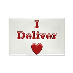 Deliver Love in This Rectangle Magnet