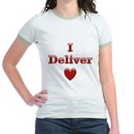 Deliver Love in This Jr. Ringer T-Shirt