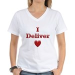 Deliver Love in This Women's V-Neck T-Shirt