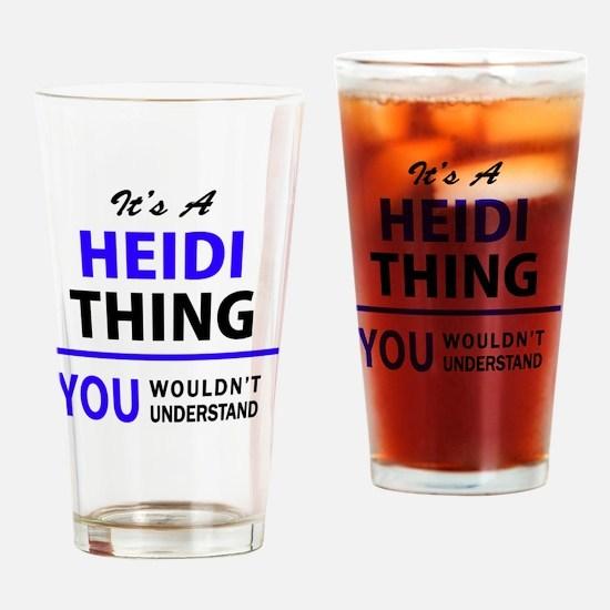 Cute Heidi Drinking Glass