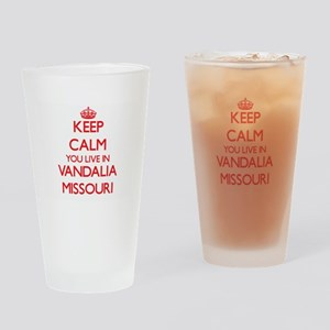 Keep calm you live in Vandalia Miss Drinking Glass