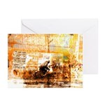Sepia Cyclist Greeting Cards (Pack of 6)