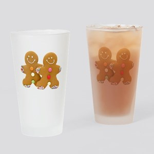 Gingerbread Men Drinking Glass
