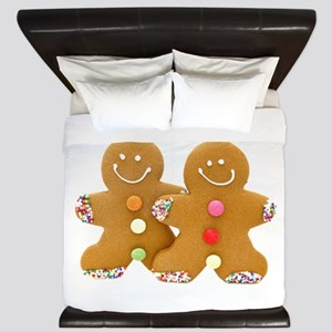Gingerbread Men King Duvet
