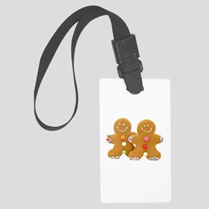 Gingerbread Men Large Luggage Tag