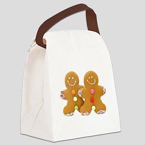 Gingerbread Men Canvas Lunch Bag