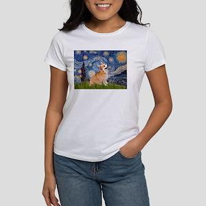 Starry Night Corgi Women's T-Shirt