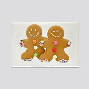 Gingerbread Men Rectangle Magnet