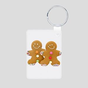 Gingerbread Men Aluminum Photo Keychain