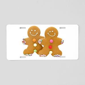 Gingerbread Men Aluminum License Plate