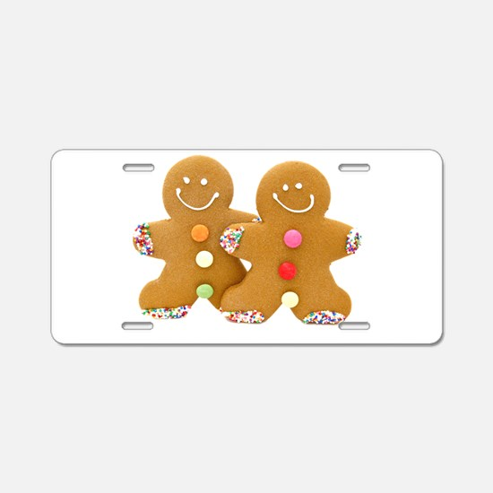 Gingerbread Men Aluminum License Plate