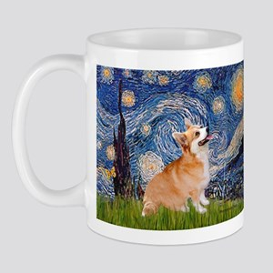 Starry Night Corgi Mug