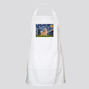 Starry Night Corgi Apron