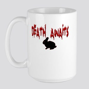 Death Awaits - Rabbit Large Mug