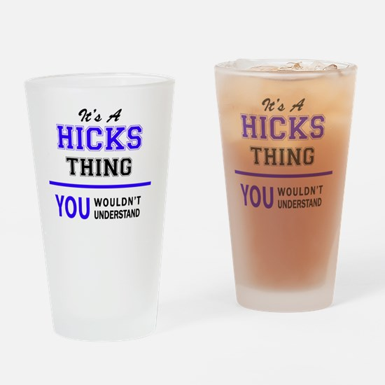 Unique Hick Drinking Glass