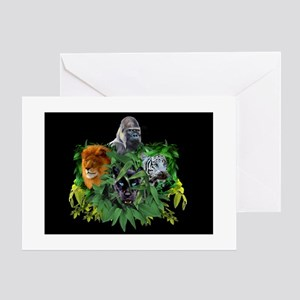JUNGLE GUARDIANS Greeting Cards