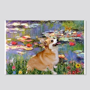 Lilies (2) & Corgi Postcards (Package of 8)