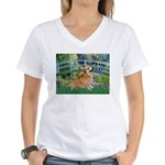 Bridge / Corgi Women's V-Neck T-Shirt