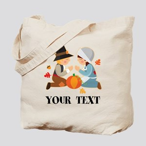 Personalized Thanksgiving Pilgrims Tote Bag