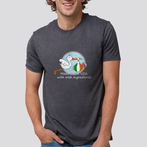 Stork Baby Ireland USA T-Shirt