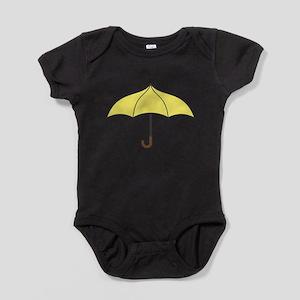 Yellow Umbrella Baby Bodysuit