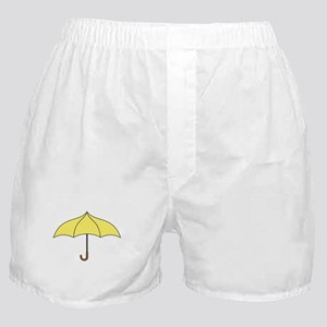 Yellow Umbrella Boxer Shorts
