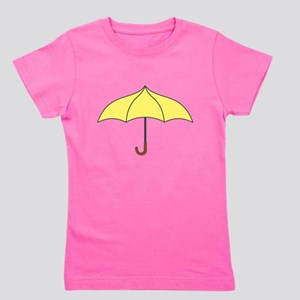 Yellow Umbrella Girl's Tee