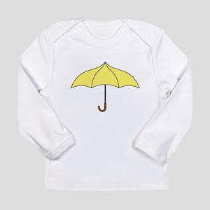Yellow Umbrella Long Sleeve Infant T-Shirt