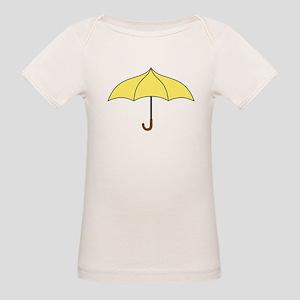 Yellow Umbrella Organic Baby T-Shirt