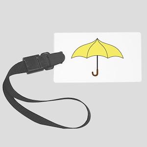 Yellow Umbrella Large Luggage Tag