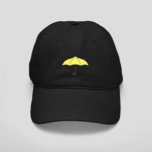 Yellow Umbrella Black Cap