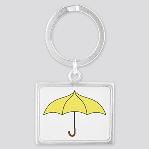 Yellow Umbrella Landscape Keychain