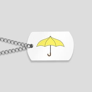 Yellow Umbrella Dog Tags