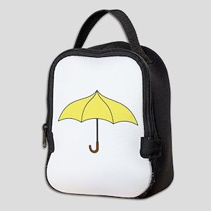 Yellow Umbrella Neoprene Lunch Bag