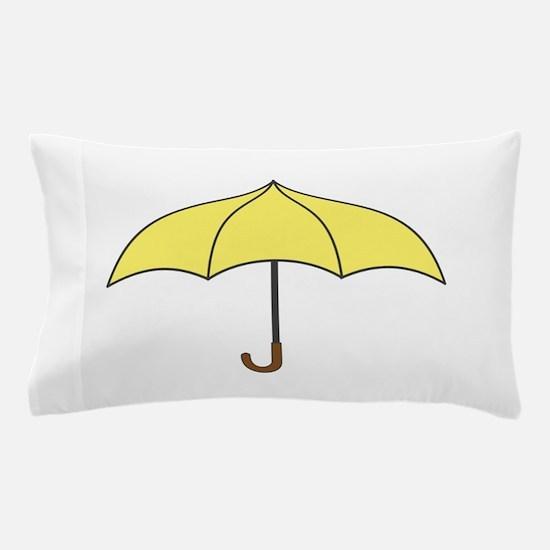 Yellow Umbrella Pillow Case