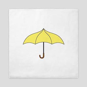 Yellow Umbrella Queen Duvet