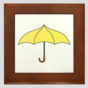 Yellow Umbrella Framed Tile