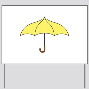 Yellow Umbrella Yard Sign
