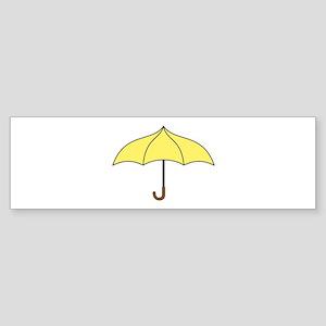 Yellow Umbrella Sticker (Bumper)