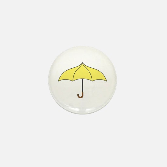 Yellow Umbrella Mini Button
