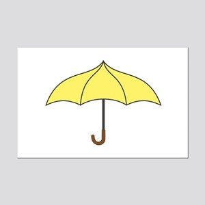 Yellow Umbrella Mini Poster Print