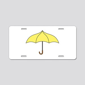 Yellow Umbrella Aluminum License Plate