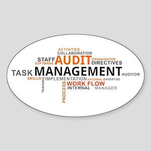 word cloud - audit management Sticker