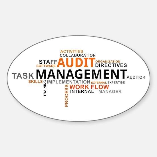 word cloud - audit management Decal