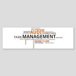 word cloud - audit management Bumper Sticker
