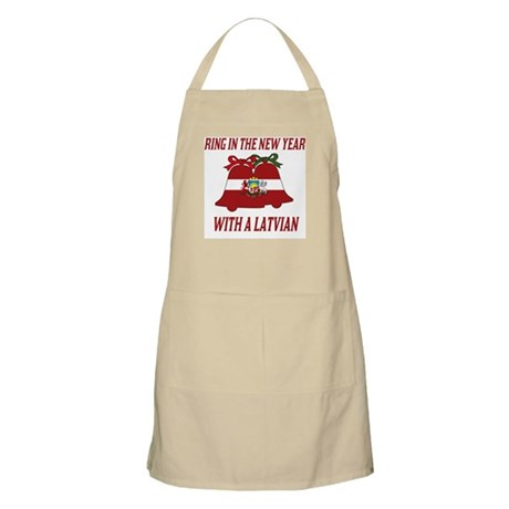 Latvian New Years BBQ Apron