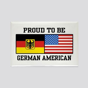 Proud To Be German American Rectangle Magnet
