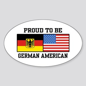 Proud To Be German American Oval Sticker