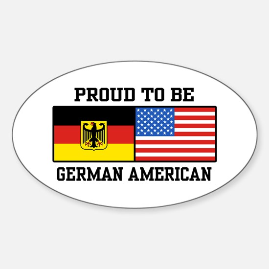 Proud To Be German American Oval Decal
