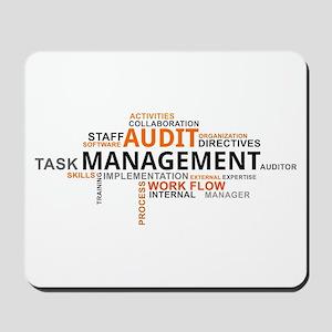 word cloud - audit management Mousepad